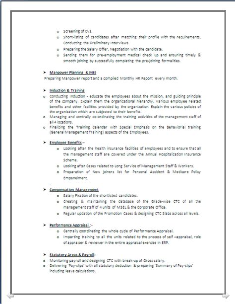 Post Resume For In Kolkata by A Beautyful Resume Sle In Word Doc Mba Hr With 4