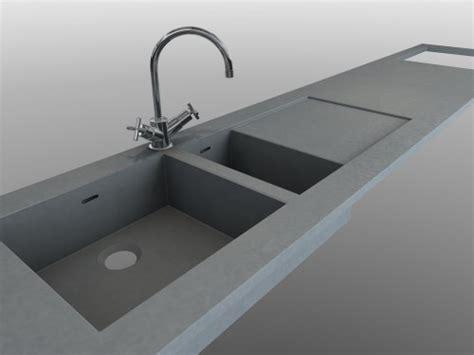 plan de travail cuisine evier integre evier béton intégré au plan de travail en beton balian