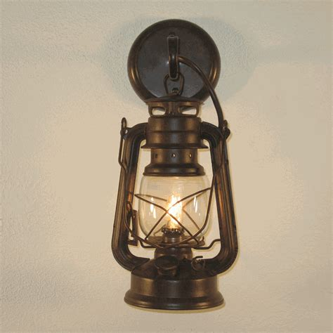 small rustic lantern wall sconce