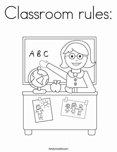 Classroom Rules Coloring Pages Teacher Printable Colouring