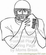 Football Player Coloring Printable Mountaineers Wvu Games Sketch Template Coloringpages101 Templates sketch template