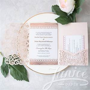 graceful love heart tri fold laser cut pocket wholesale With wedding invitation pockets wholesale
