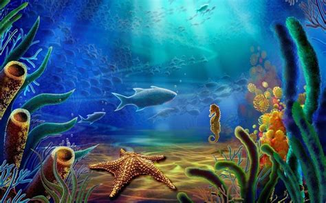 Animated Underwater Wallpaper - underwater fish live wallpaper