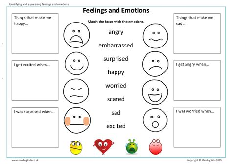 feelings worksheet therapeutic interventions