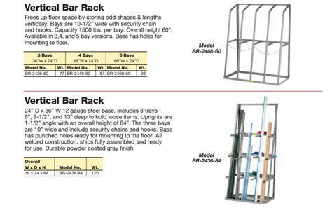 Little Giant Vertical Bar Racks For Product Storage