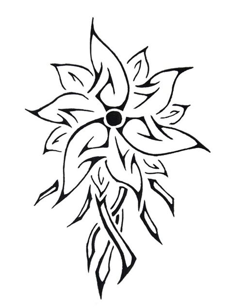 amazing tribal flower tattoos