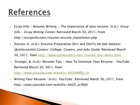 resumes dos and donts resume do s and don t s