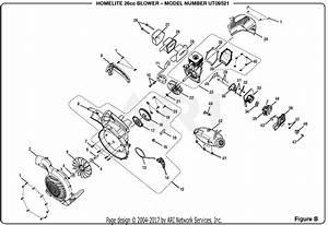 Homelite Ut09521 26cc Blower Parts Diagram For Figure B