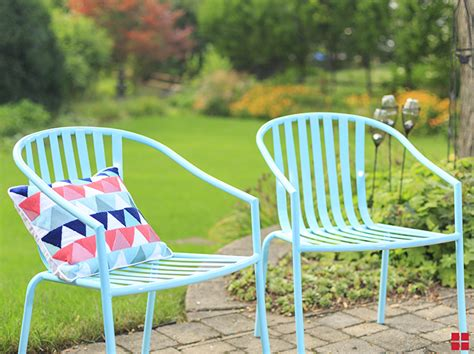 turquoise chairs patio diy outdoor spray paint project rustoleum light rust porch projects deck