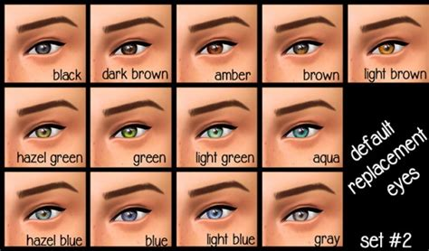 Light Hazel Contacts by Sims 4 Eyes Archives Page 19 Of 22 Sims 4 Downloads