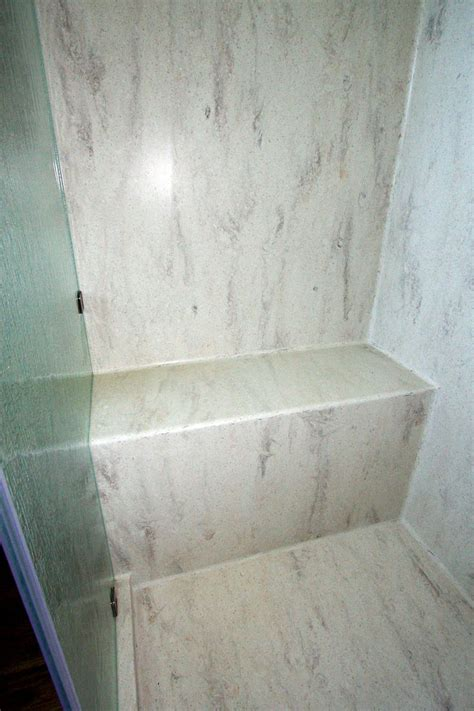 corian seamless shower bench pan corian shower walls