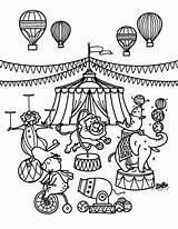 Circus Coloring Pages Printable Museprintables Train Carnival Sheets Themed Template Animals Preschool Animal Theme Whitesbelfast Pdf sketch template