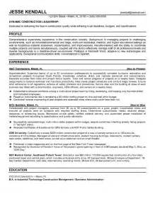 best construction resume exles exle construction superintendent resume free sle