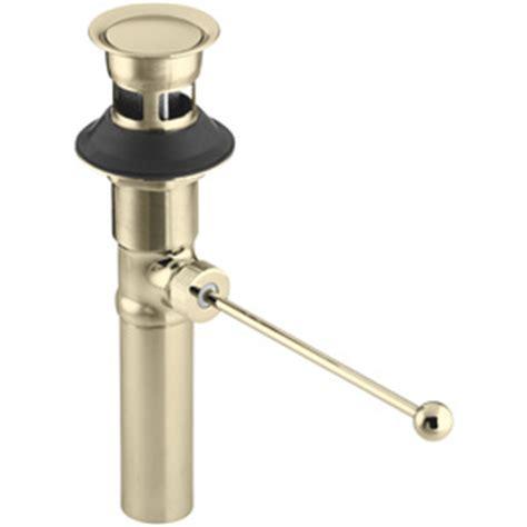 shop kohler universal fit gold pop up drain kit at lowes com