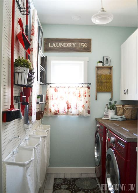 Hometalk  A Vintage Inspired Red & Aqua Laundry Room Makeover