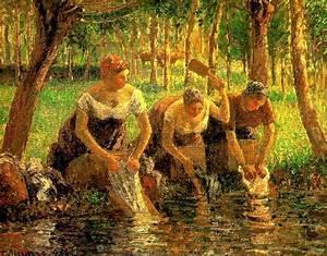 Eragny Art De Vivre : laundring women eragny sur eptes 1895 camille pissarro ~ Dailycaller-alerts.com Idées de Décoration