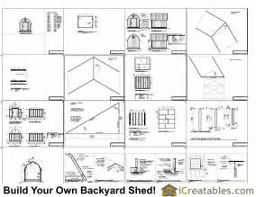 8x16 gambrel shed plans icreatables com
