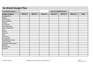 Budgeting Sheets Template Six Month Budget Plan Hashdoc