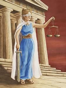 Themis- Greek myth: a titaness, daughter of Uranus and ...
