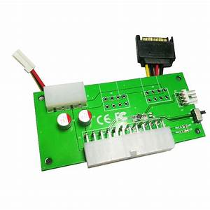 Dual Power Transfer Card Adapter With Manual Switch 24pin