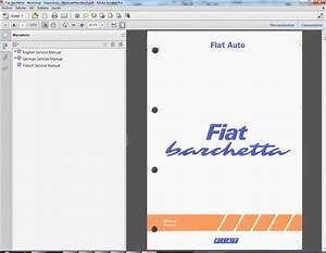Fiat Barchetta - Service Manual - Manuel De Reparation