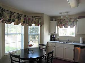 the ideas of kitchen bay window treatments theydesign With need working window treatment ideas
