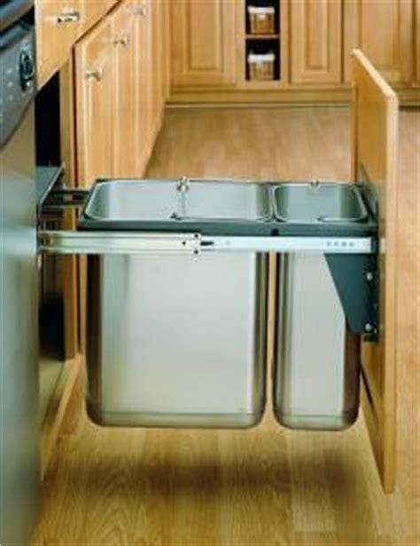 reuse kitchen cabinets pull out trash cans on waste container 1953