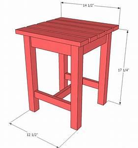 Ana White Build a Adirondack Stool or End Table Free
