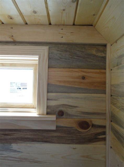 Tiny House Window Trim And Beetlekill  Bluestain Pine