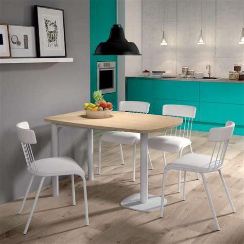 table de cuisine petit espace table de cuisine demi oblongue en stratifié et métal pour petit espace lucca 4 pieds