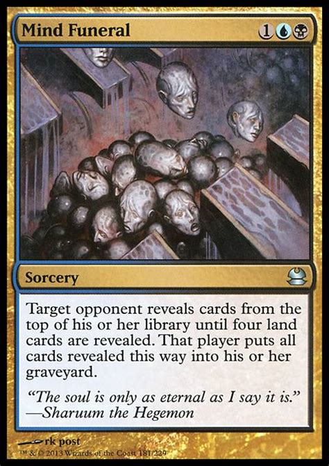 mtg mill deck commander mind funeral mma mtg card