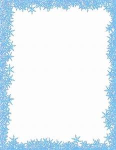 snowflakes border - /page_frames/weather/cold/snowflakes ...