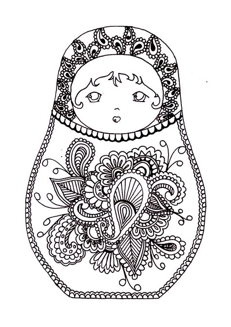 russian dolls  russian dolls adult coloring pages