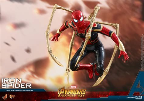 avengers infinity war  scale iron spider figure