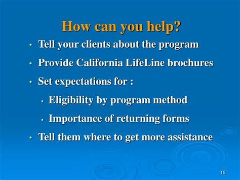 ca lifeline phone number ppt california lifeline telephone program powerpoint
