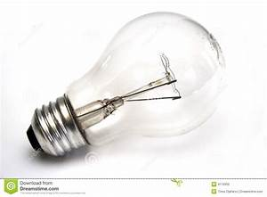 Light Bulb At White Background Stock Photography - Image ...