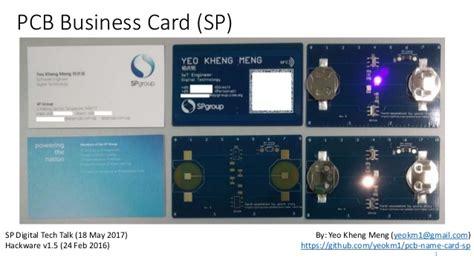 pcb business card singapore power