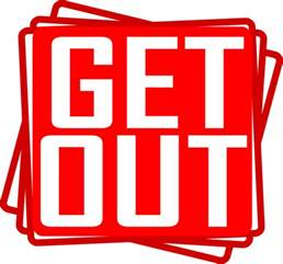 Image result for free clip art Get Out