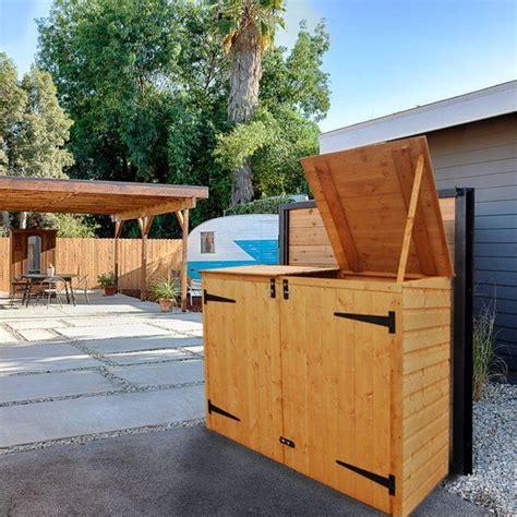 garbage bin storage shed best 25 garbage can shed ideas on garbage