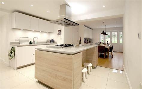 Kitchen Bench German by Matt Polar White Handleless With Island Welwyn Blax
