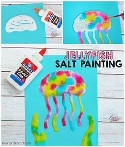Jellyfish Salt Painting Activity For Kids - I Heart Arts n ...