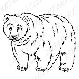 Grizzly Bear Clip Art Black and White