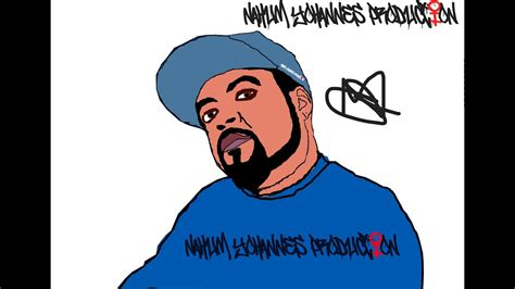 Ice Cube Cartoon Version + Speedart #icecube @icecube