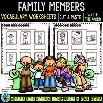 matching family members worksheet  kindergarten