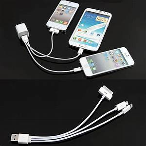Phone Multiple Data Line Charging Cord 3 In 1 Charger