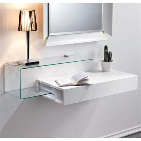 meuble de bureau occasion etagère murale 1 tiroir julie design blanc opaque achat
