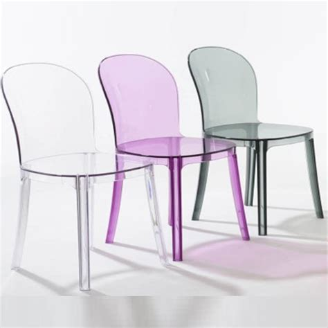 clear vanity chair magis vanity chair clear plastic dining chair furniture