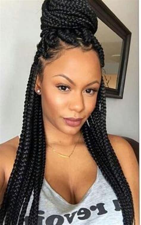 single braids hairstyles trend  summer
