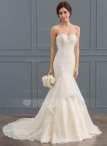 trumpet mermaid sweetheart court train lace wedding dress With sweetheart trumpet wedding dress