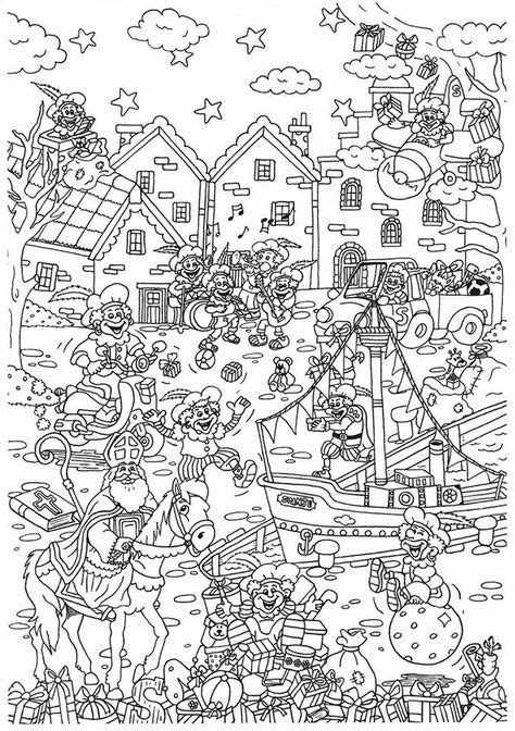 Kleurplaat Sinterklaas Moelijk by Vorig Jaar Maakte Suzanne Deze Leuke Kleurplaat Al
